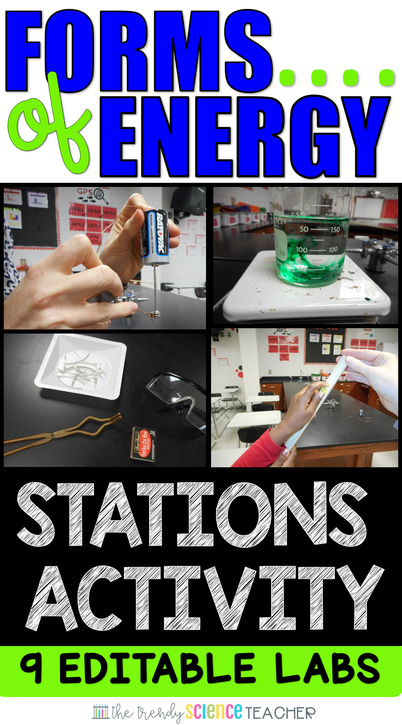 Forms of Energy Stations Lab (FULLY EDITABLE) | The Trendy