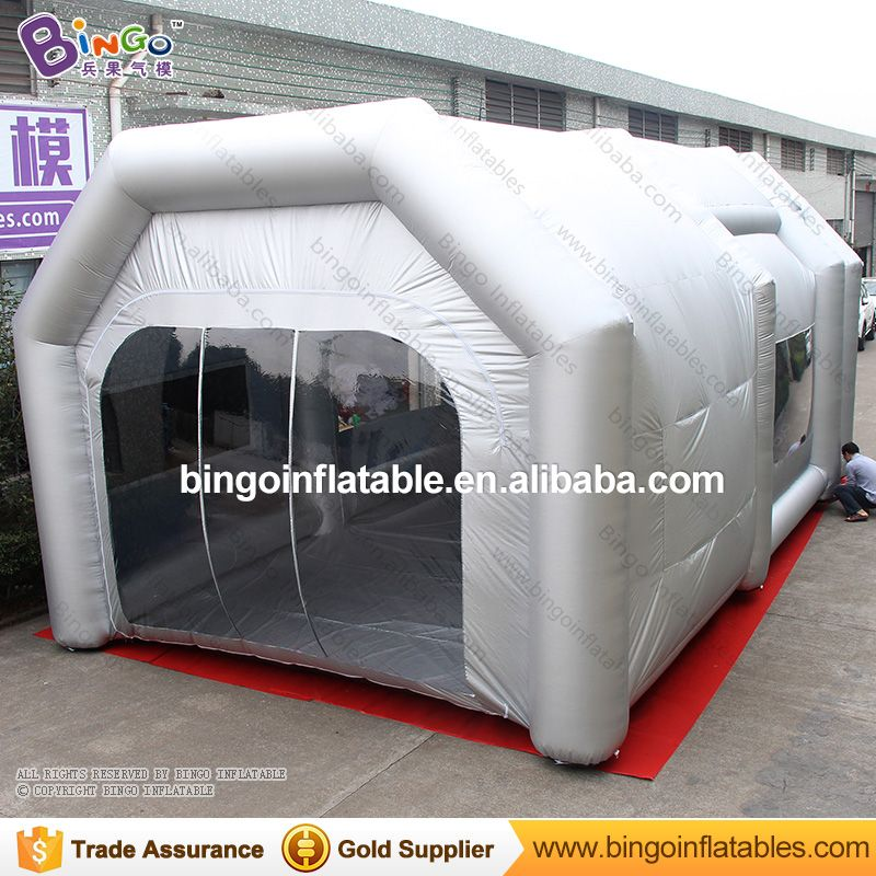 9 5 20 4 10mts Inflatable Spray Paint Booth Tent With Filtering