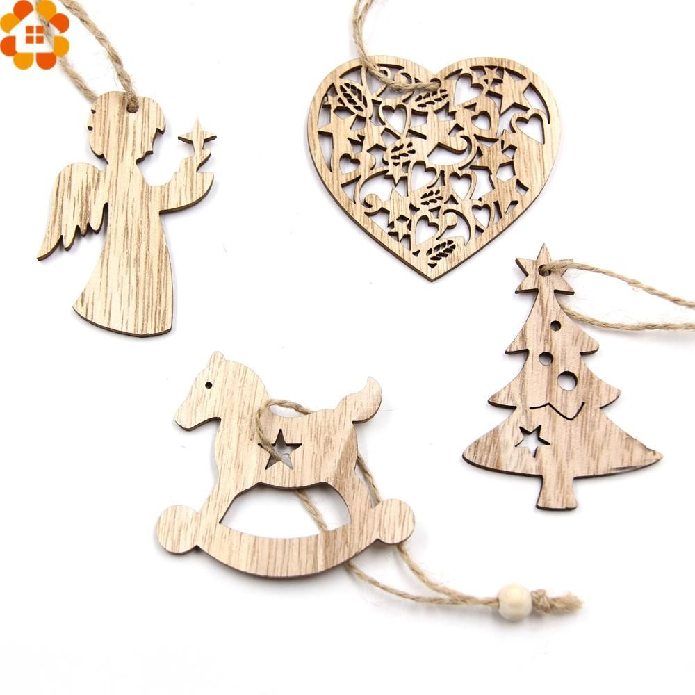 piece set wooden christmas ornaments products