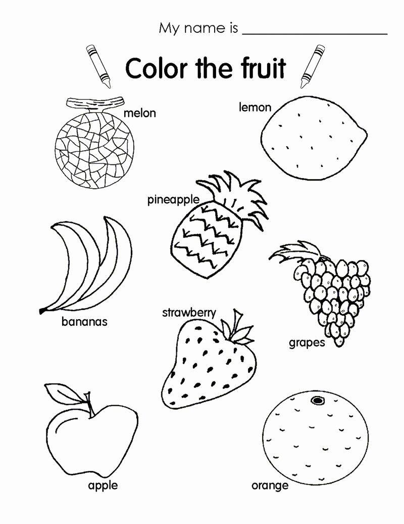 Coloring Activities For Kindergarten Students Luxury Esl Worksheets For Kids Fruit Fun Worksheets For Kids Coloring Worksheets For Kindergarten Fruits For Kids Esl kindergarten coloring worksheets