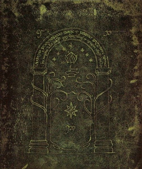 The Doors Of Durin Lord Of Moria Speak Friend And Enter Lord Of The Rings The Hobbit Middle Earth
