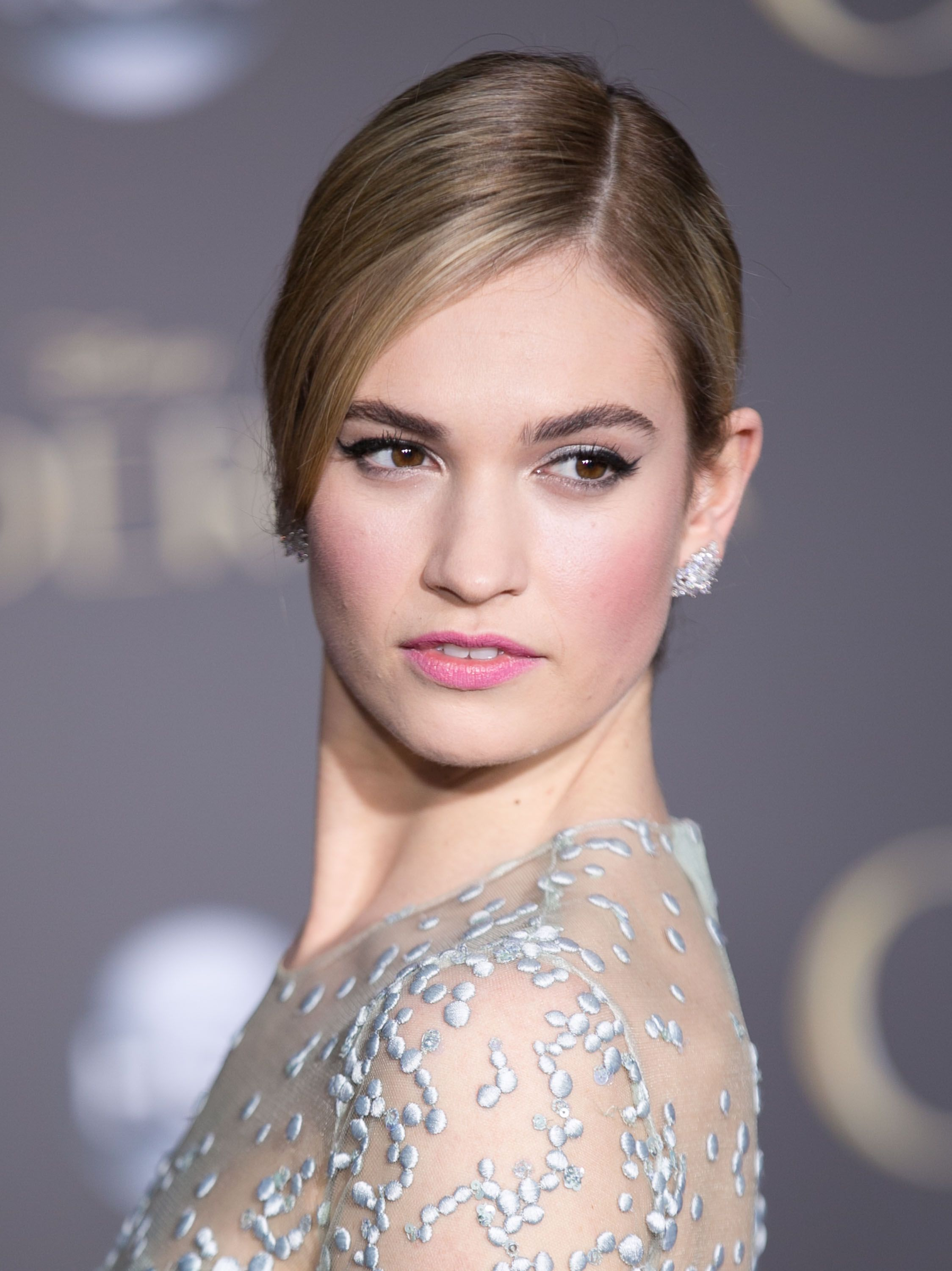 Lily James at the \'Cinderella\' World Premiere in Los Angeles on ...