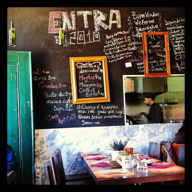 #Entra #restaurant #lunch #chalkboard #wall #lisboa #portugal - @ritzdesousa- #webstagram