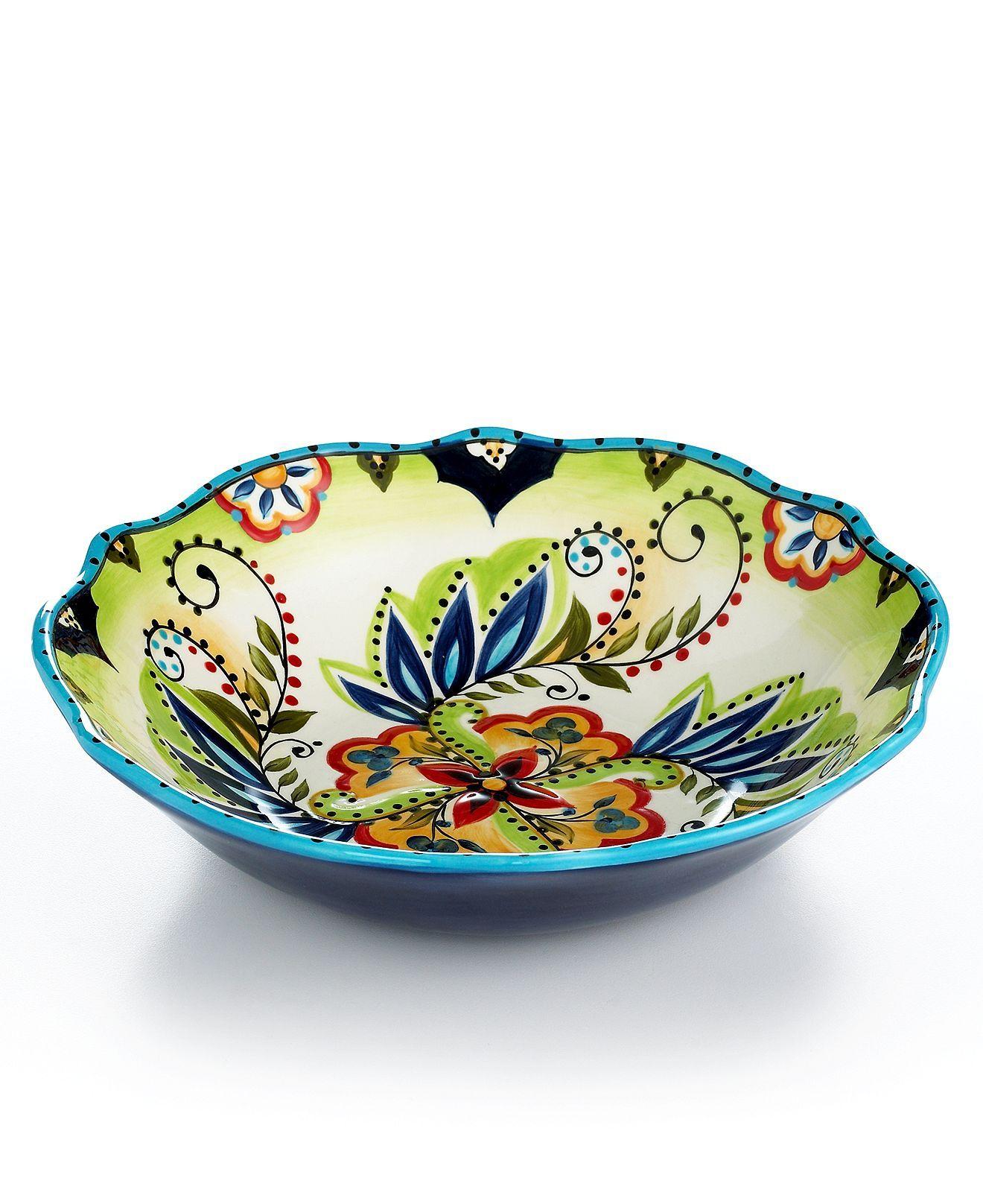 Espana Dinnerware Bocca Scalloped Serving Bowl - Serveware - Dining u0026 Entertaining - Macys  sc 1 st  Pinterest & Espana Dinnerware Bocca Scalloped Serving Bowl - Serveware - Dining ...