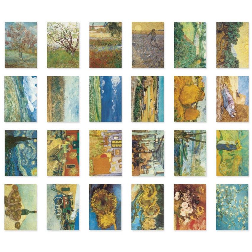 NACOO Vincent van Gogh label sticker set - Fallindesign.com