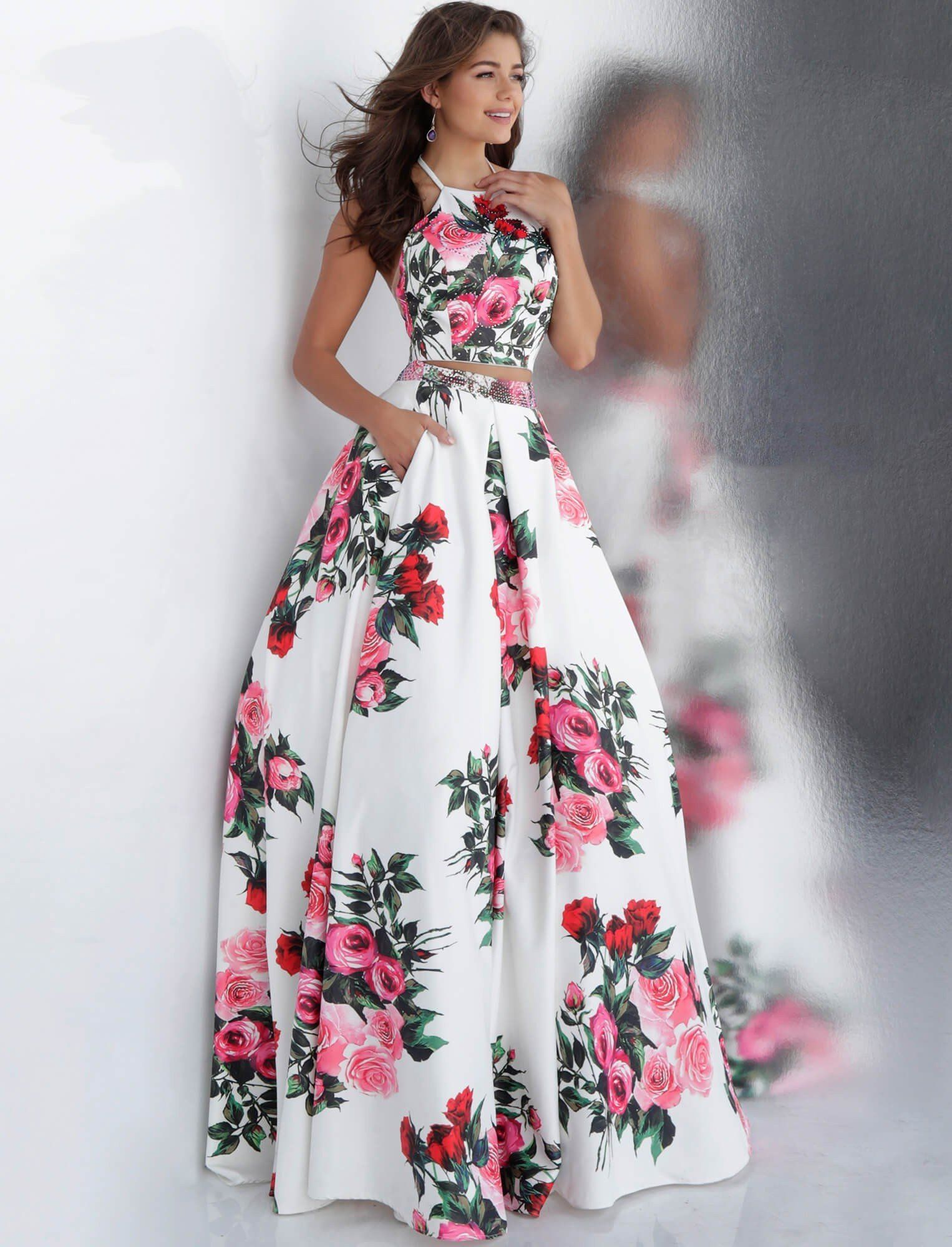 70e5551fbfe82 JVN by Jovani JVN66058 Two-Piece Floral Ball Gown in 2019 | 2019 ...