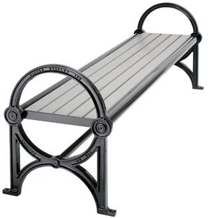 Model Cm 14 Greensites Series Backless Bench With Ductile Iron