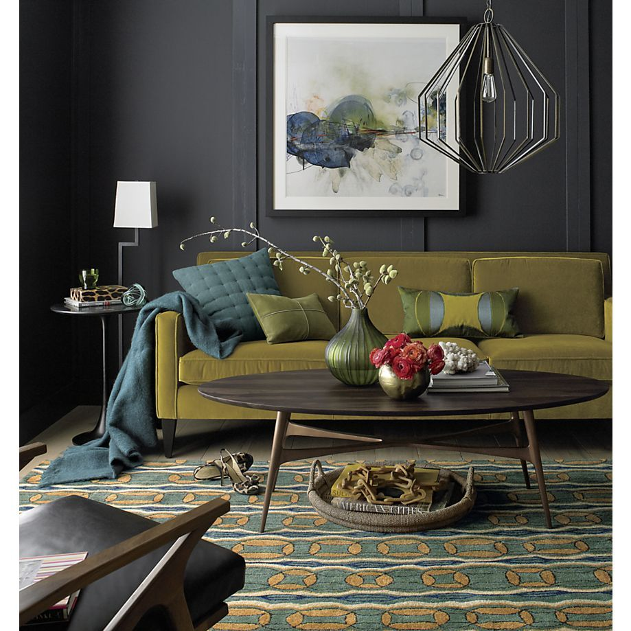 Bel Air Oval Coffee Table In Coffee Tables Side Tables Crate And Barrel Family Room