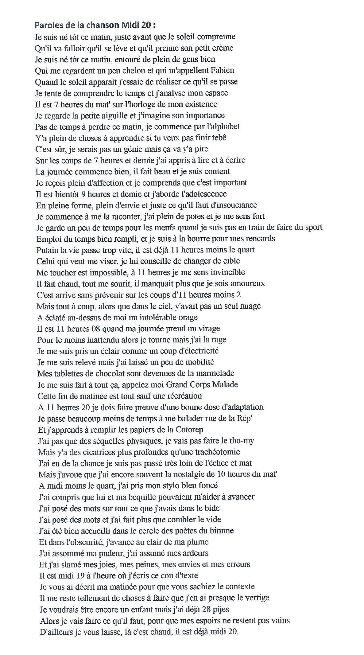 Paroles De Je Suis Malade : paroles, malade, Grand, Corps, Malade, Paroles., Poeme, Citation,, Parole,, Chanson