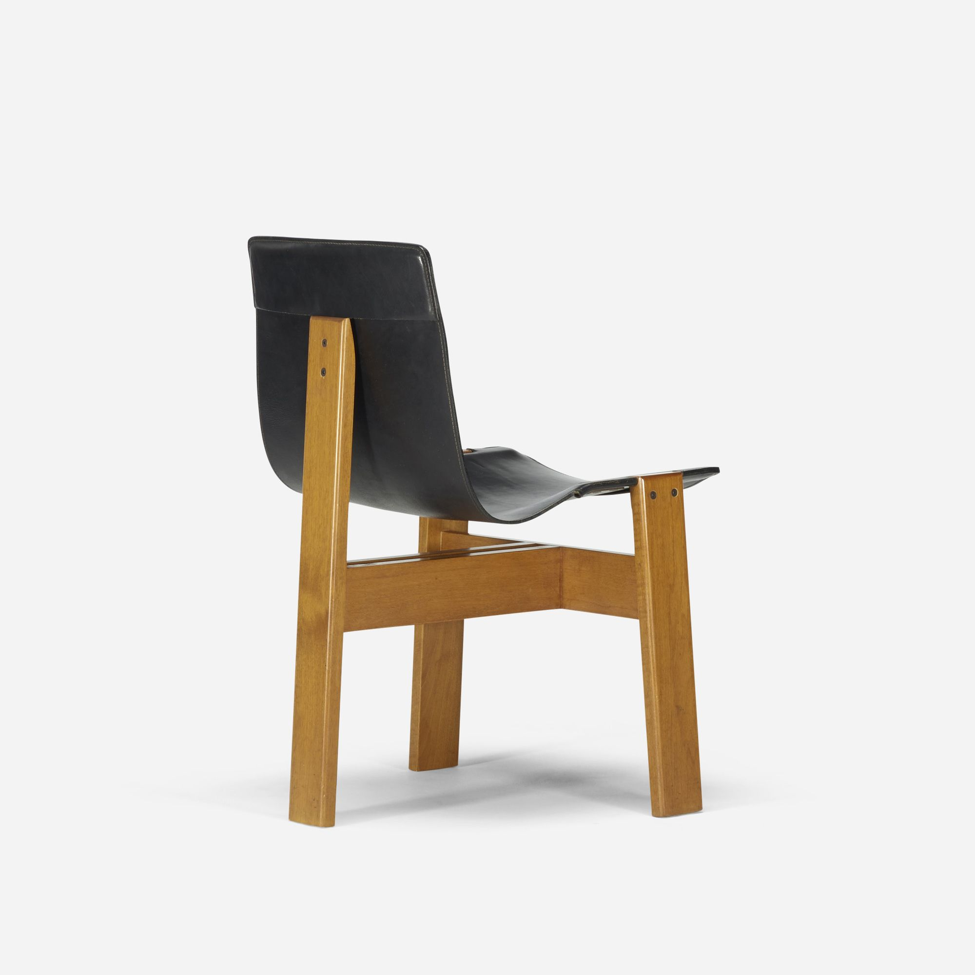 Lot 526 Angelo Mangiarotti Tre 3 Dining Chair 1978 Leather Mahogany 22 W X 21 D X 31 H In Estimate 700 900 Dining Chairs Furniture Chair Chair