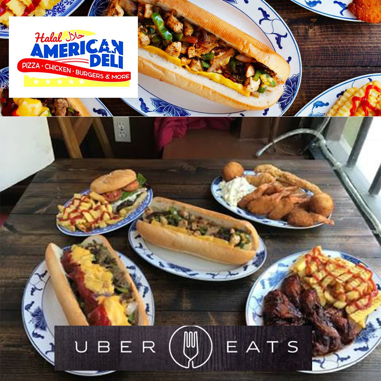 Check Us Out On Uber Eats Halal American Deli Hours Of Operation Mon Thurs 11am 10pm Friday 3pm 11pm Saturday 11am 11 Eat Burgers And More Chicken Burgers