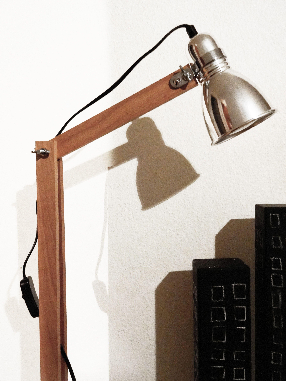 industrial stehleuchte selber machen bilder lampe. Black Bedroom Furniture Sets. Home Design Ideas