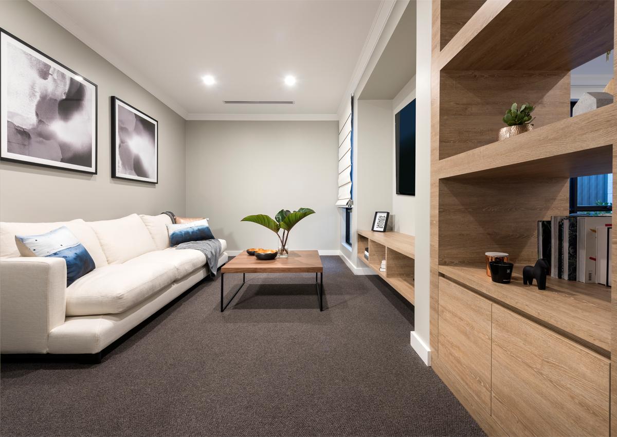 Interior design for homebuilders - Home Builders Australia Theatre Display Home New Homes Interior Design Home