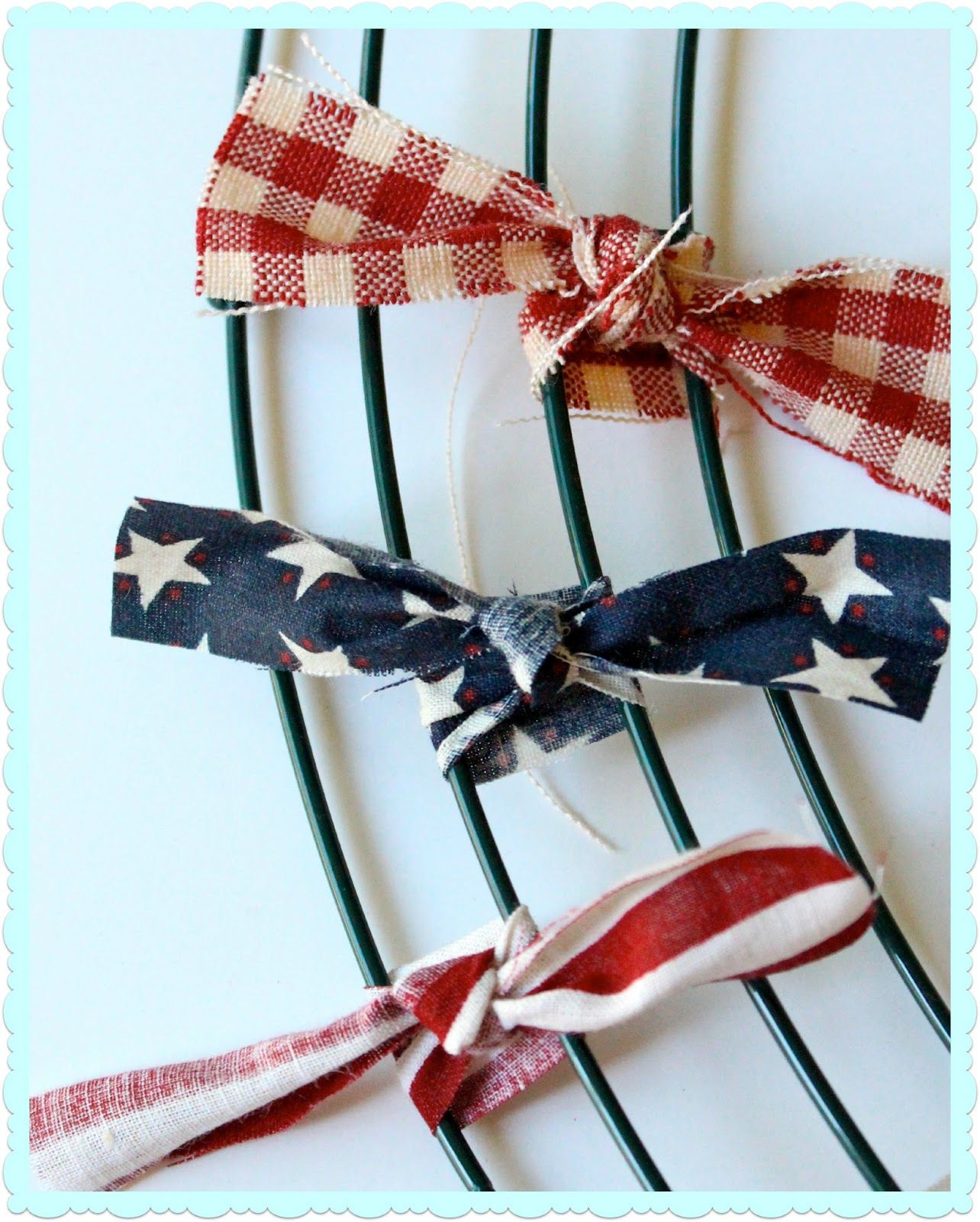 Ribbon wreath tutorial on wire hanger - Oh Sew Crafty Life Patriotic Rag Wreath Tutorial