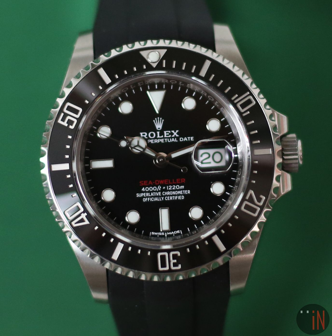 A Fresh Fit Rolex 43mm Sea Dweller Red Writing 4000ft Unpolished Ref 126600 With Cyclops On A Rubberb Strap Circa 2017 Http Www Elementinti ว นเทจ
