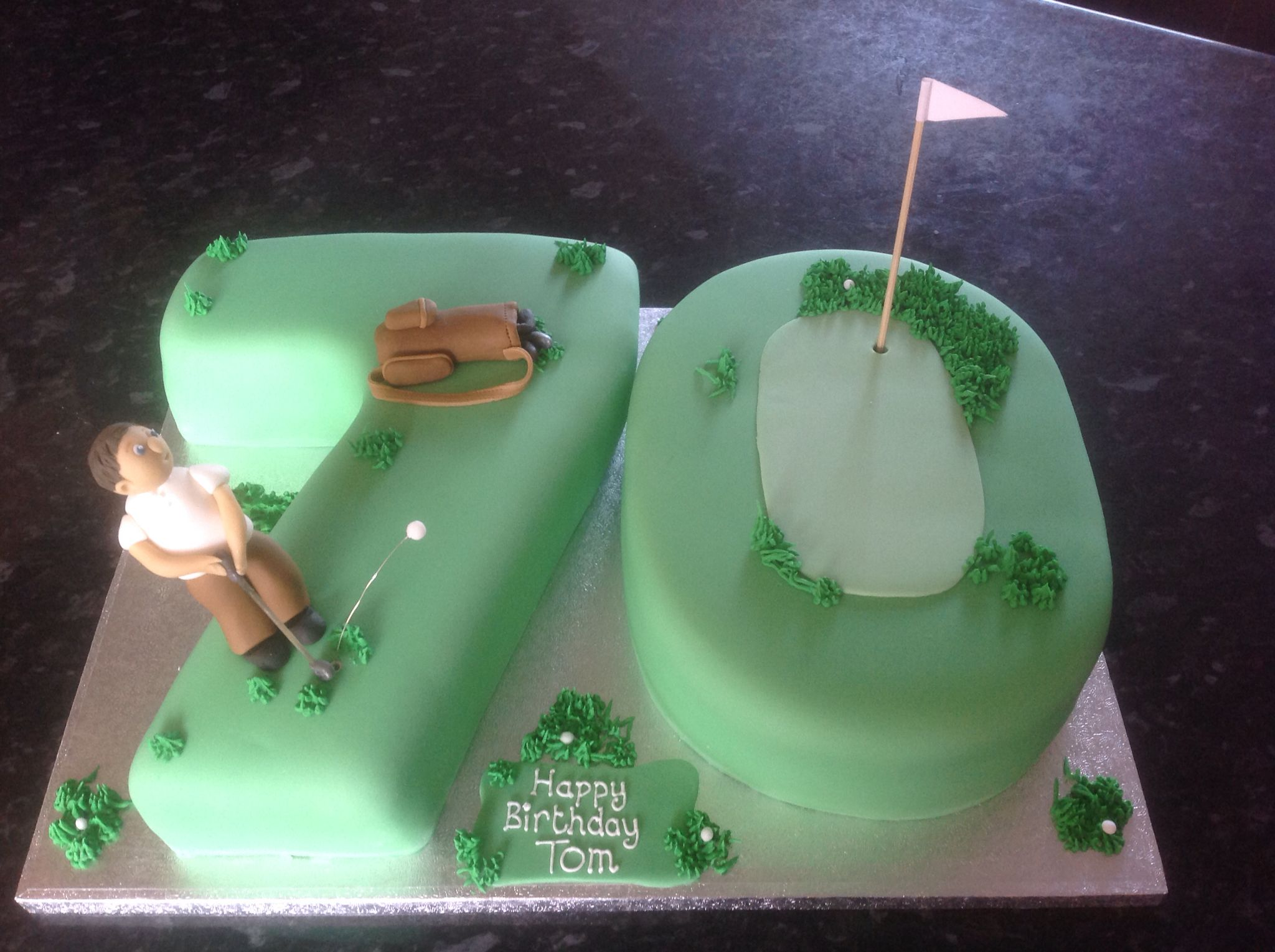 Golf Theme Birthday Cake For A 70th By Cupboardlovecakes