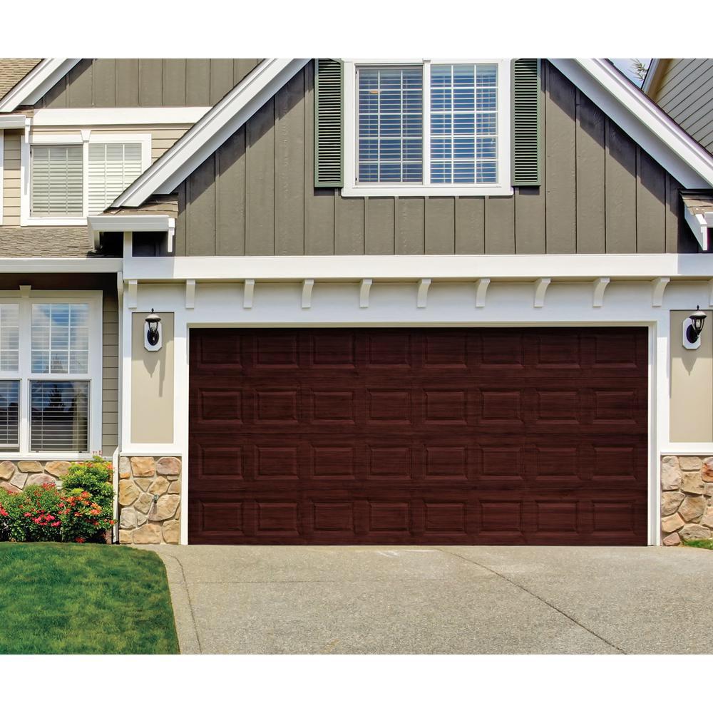 Giani Royal Mahogany 2 Car Garage Kit Fg Wl Mah 2 Kit The Home Depot Garage Door Styles Garage Door Paint Wood Garage Doors