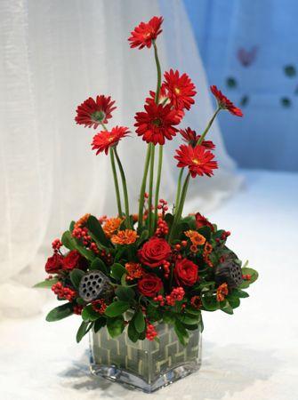 Composition florale d 39 automne fleurs and co pinterest for Petites compositions florales pour table