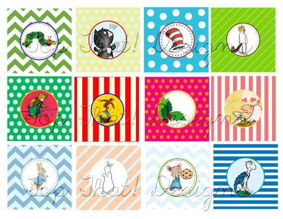 book themed baby shower cupcake toppers collection featured on hwtm blog instant download