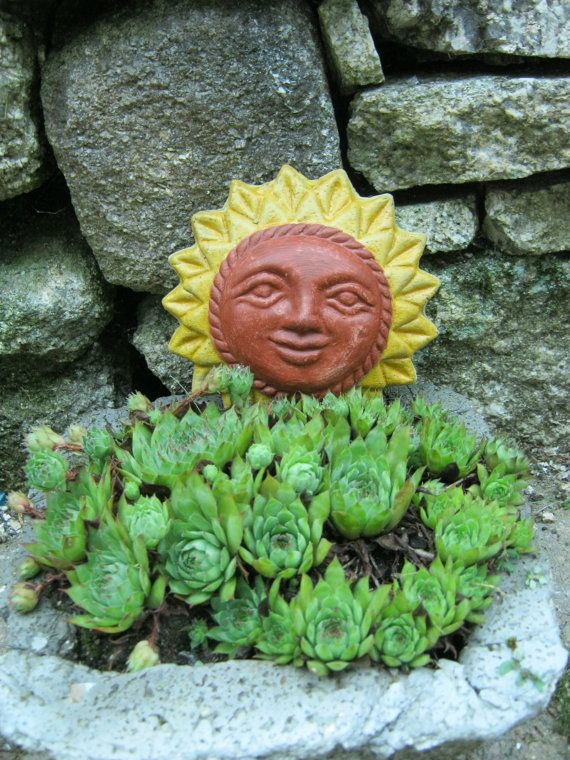 Sun Face Wiccan Hanging Statue Garden By Westwindhomegarden 8 95