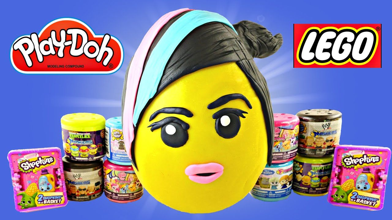 JUMBO WyldStyle LEGO Movie Play Doh Surprise Egg Frozen WWE