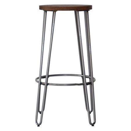 Outstanding Quinn Round Wood Top Backless Barstool Decorating Bar Inzonedesignstudio Interior Chair Design Inzonedesignstudiocom