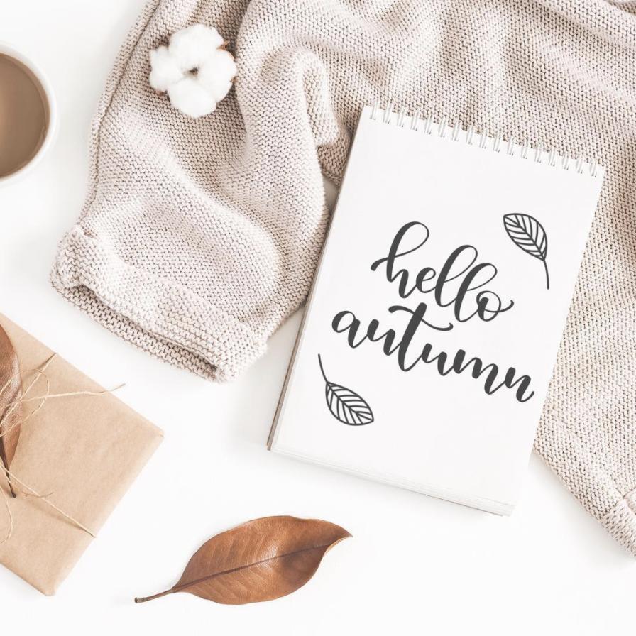 Hello autumn calligraphy flatlay #helloautumn