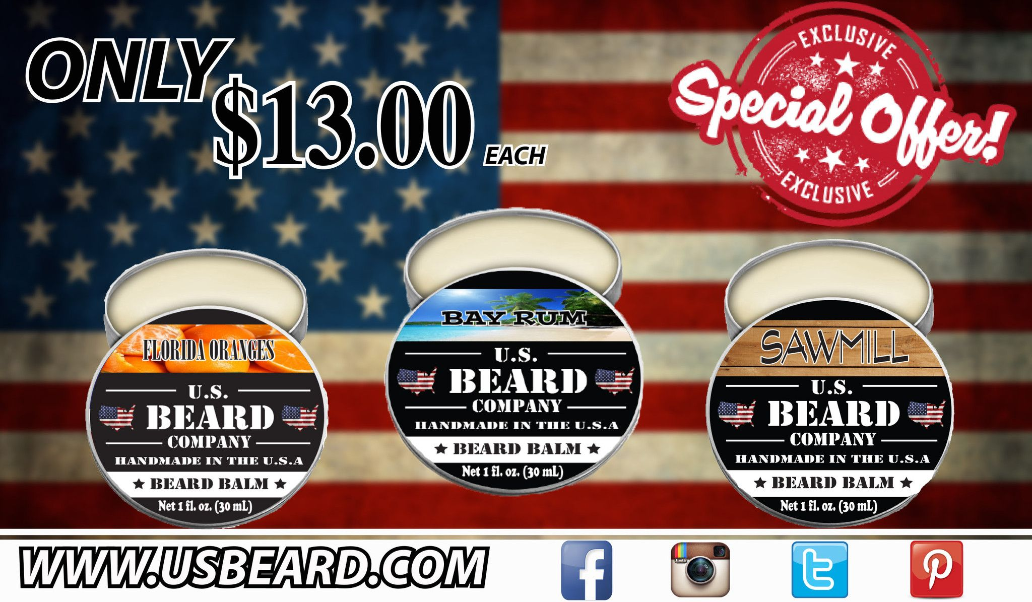 Premium Beard Balm will help you condition and protect that face forest. Each scent has a unique and invorating aroma. Try one or try them all promo code 10off50 for $10 off orders of $50 or more...