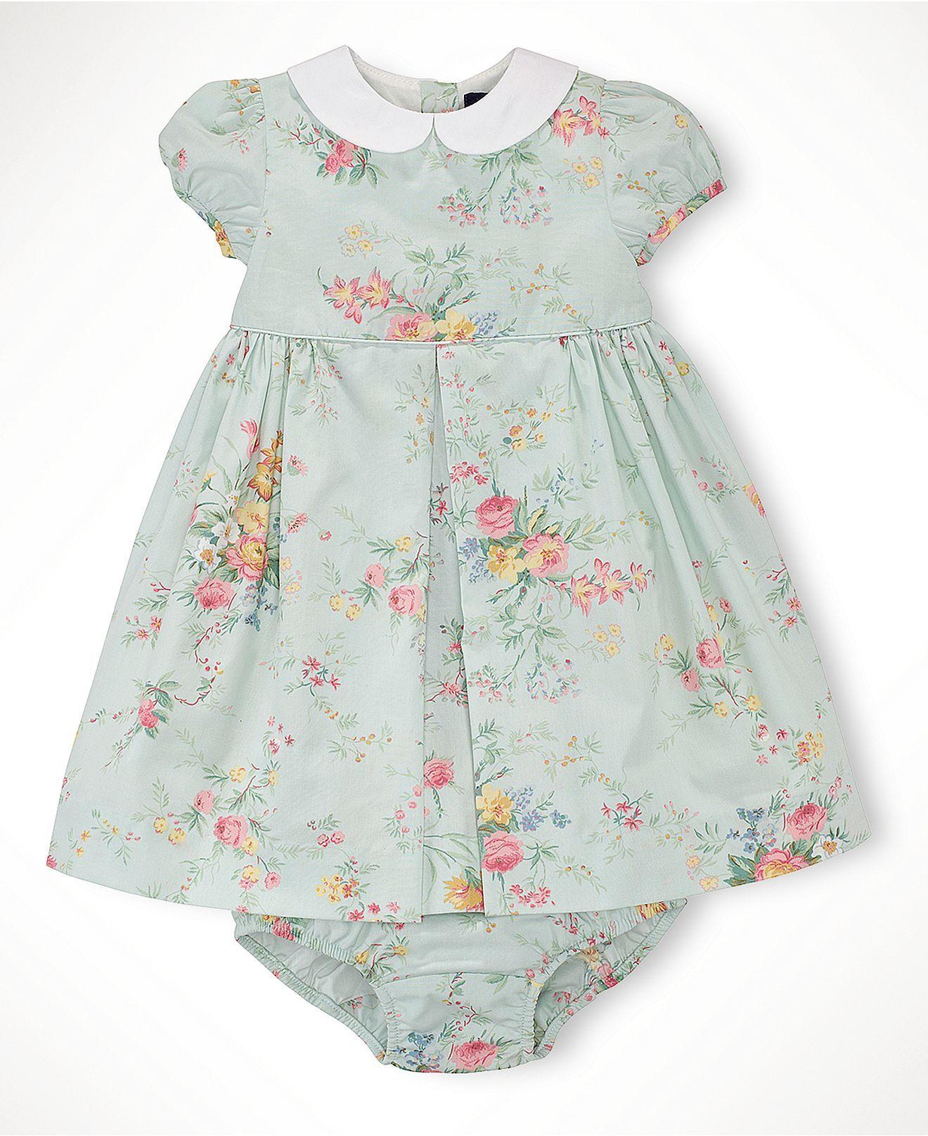 Easter Ralph Lauren Baby Girls Collared Spring Floral Dress