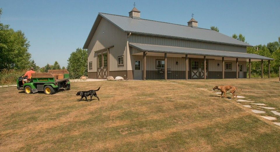 Morton buildings use clear span construction to offer open for Open barn plans