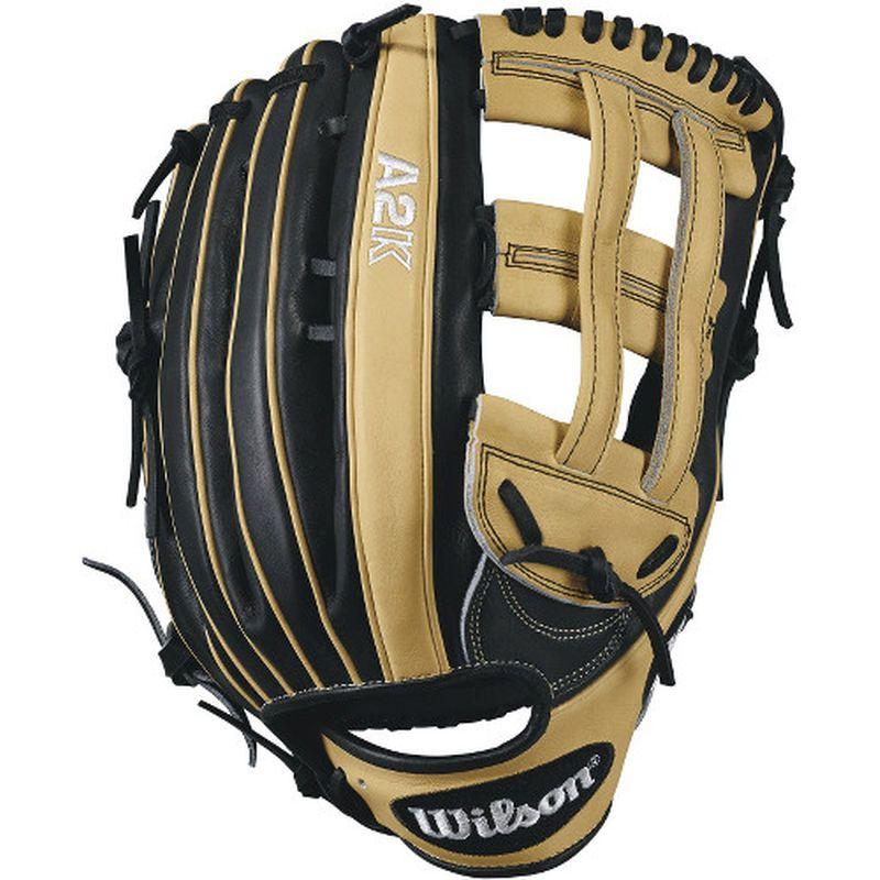 "Wilson 12.75"" A2K 1799 Outfield Baseball Glove Tan/Black"