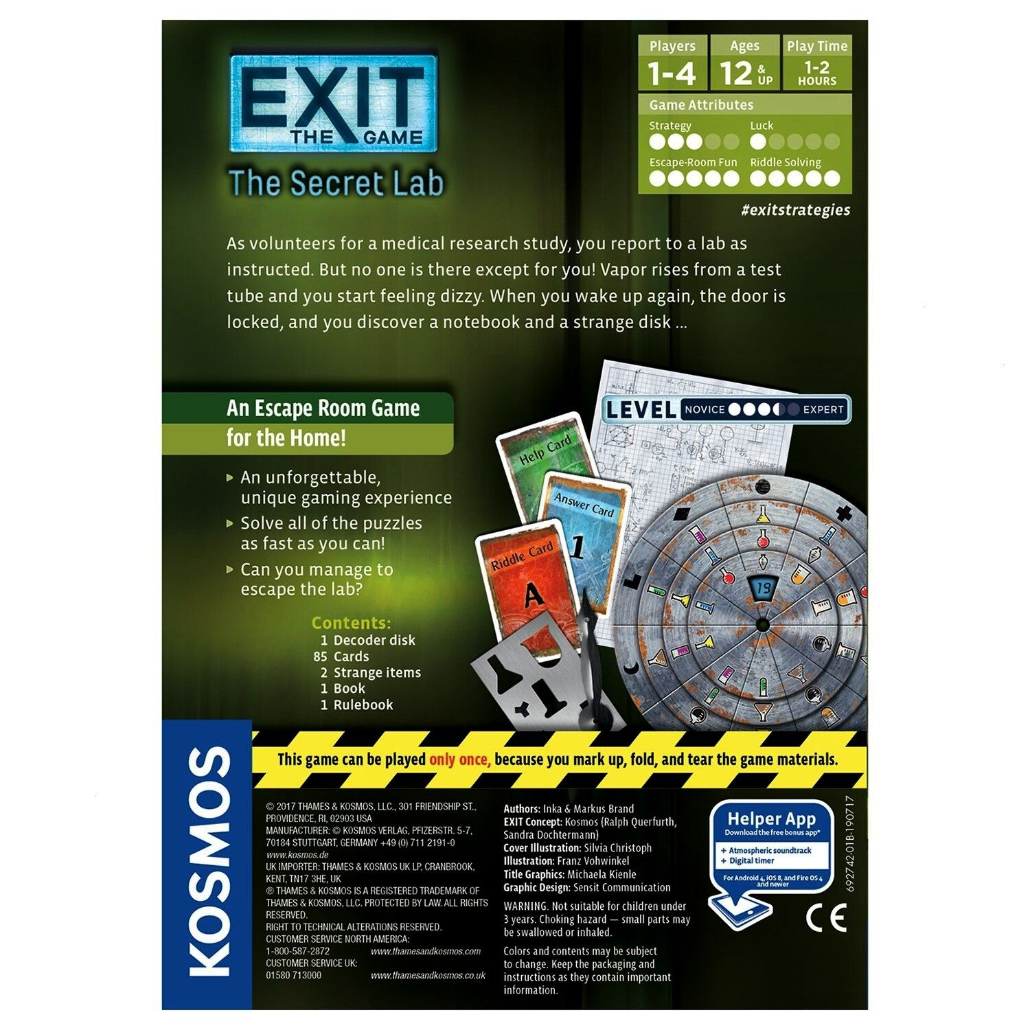 Kosmos EXIT The Secret LabThames  Kosmos EXIT The Secret Lab Explore thought provoking real world problems in the digital classroom Claim Evidence and Reasoning is the n...