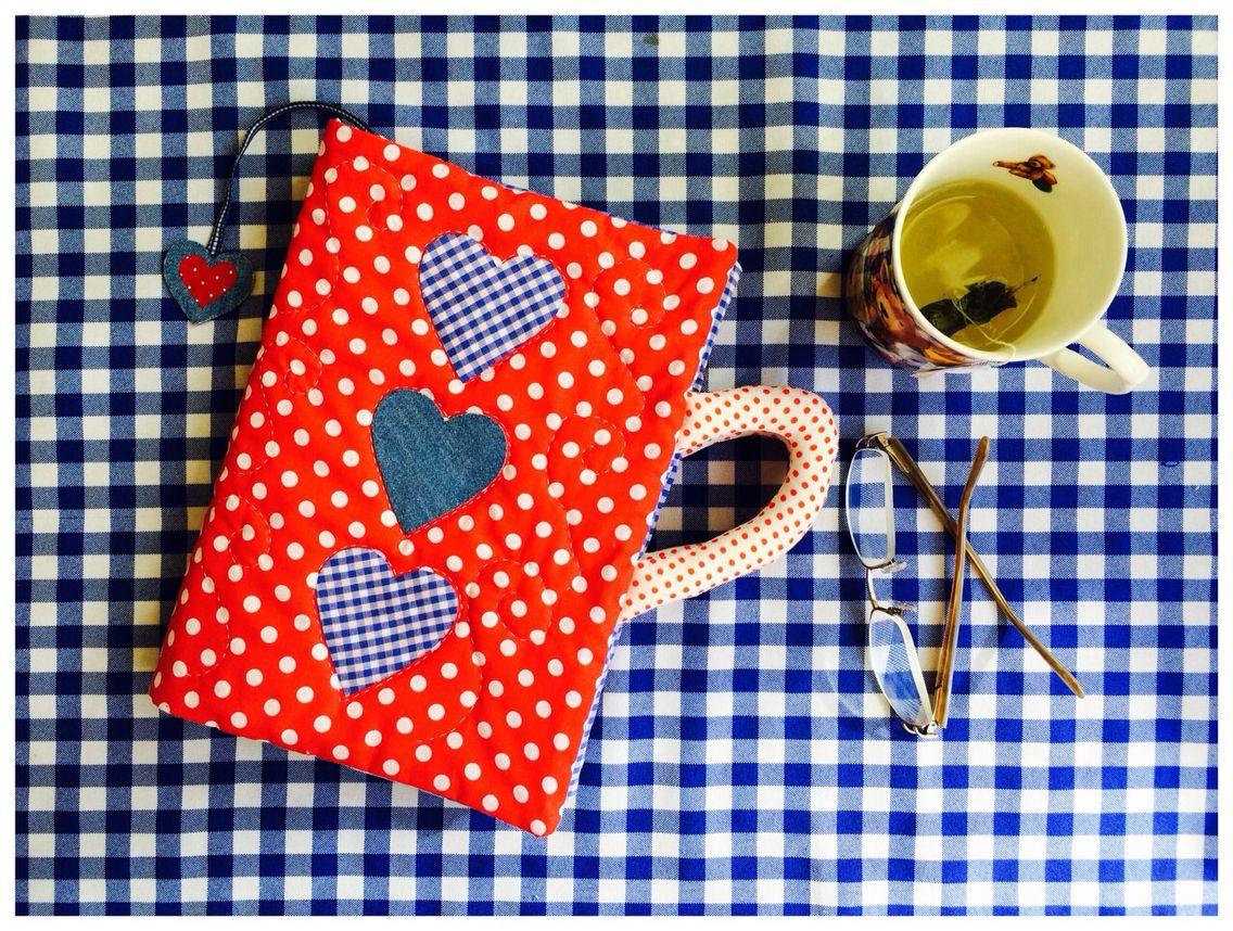 Capa de livro em patchwork