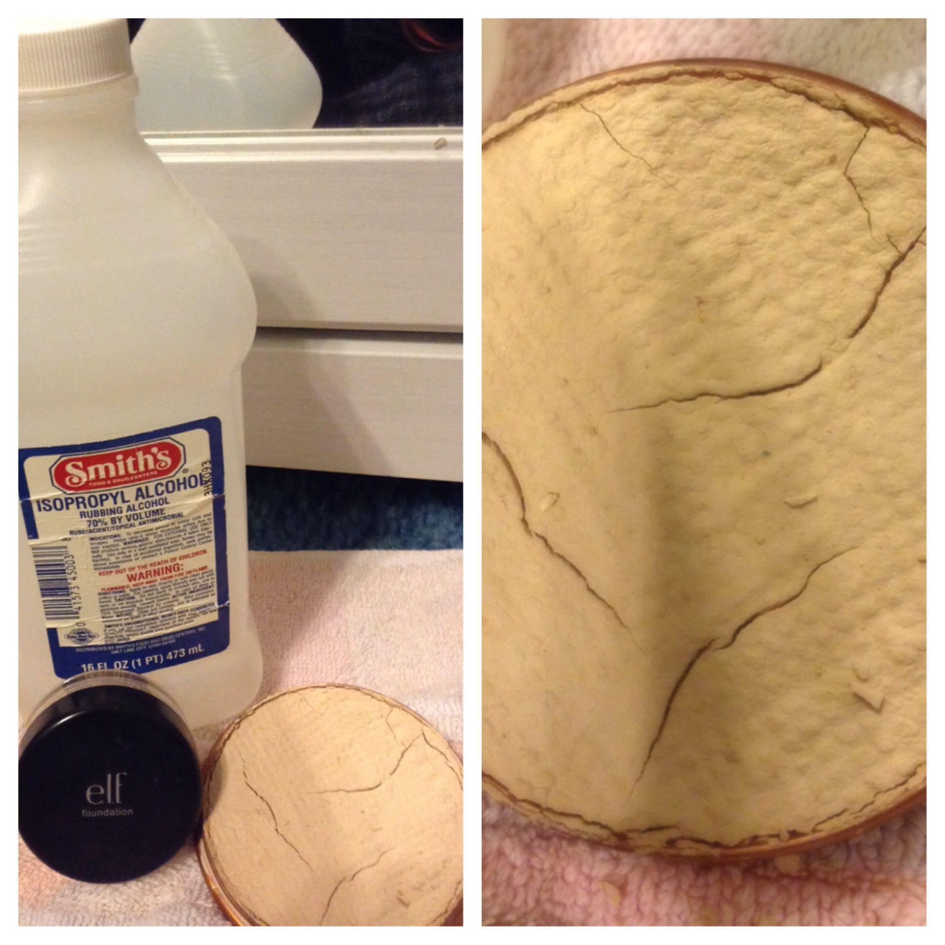 DIY pressed powder!! Mix loose face powder with rubbing