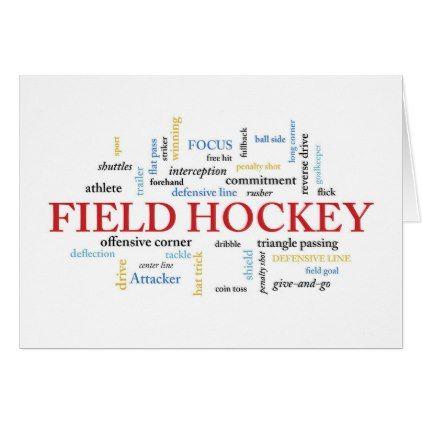 Field Hockey Coach Birthday In Words Card Birthday Cards