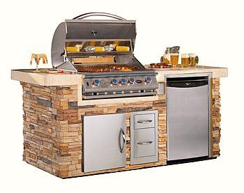 Bbq Grill Design Ideas this outdoor kitchen features hand polished stone and a pizza oven Consider Bbq Islands As You Determine The Best Options For Your Outdoor Kitchen Design Bbq