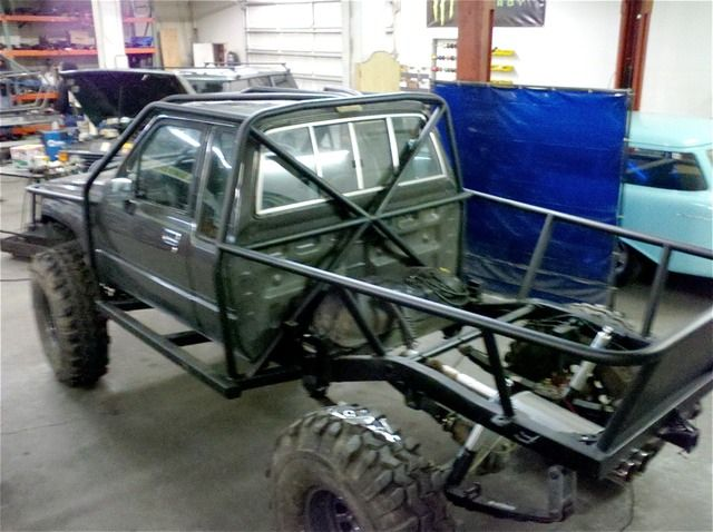 Exo cage offroad vehicles pinterest truck mods - Interior roll cage for toyota pickup ...