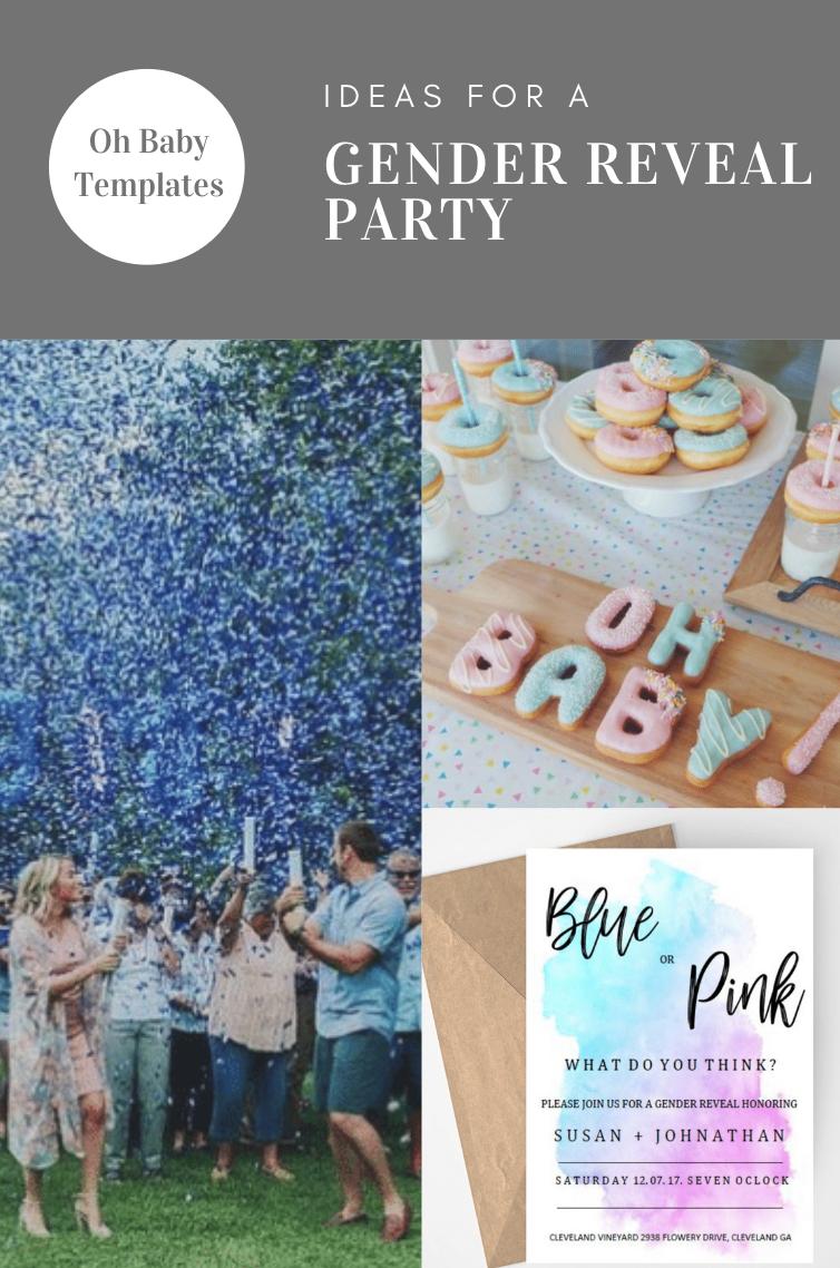Gender Reveal Invitation, Blue or Pink, Printable, Template, Custom, Gender Reveal Invite, Pink or  #genderrevealideasforpartydiy