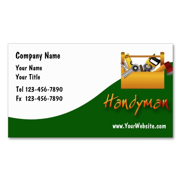 Handyman Business Cards Zazzle Com Handyman Business Construction Business Cards Customizable Business Cards