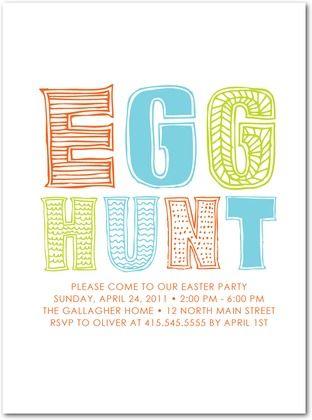 Easter Egg Hunt Invitations EASTER Pinterest Easter Easter