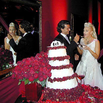 Stars Stunning Wedding Photos Gwen Stefani Wedding Celebrity