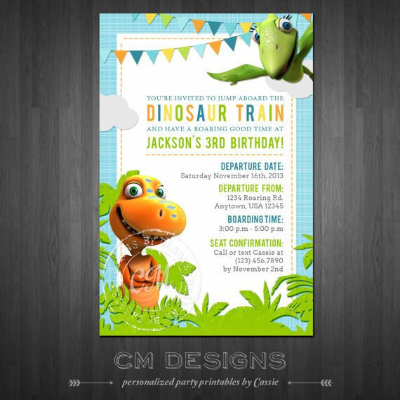 Dinosaur Train Birthday Invitation By DesignsbyCassieCM On Etsy