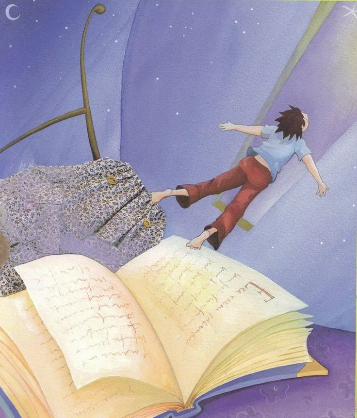 Fly away with a book.