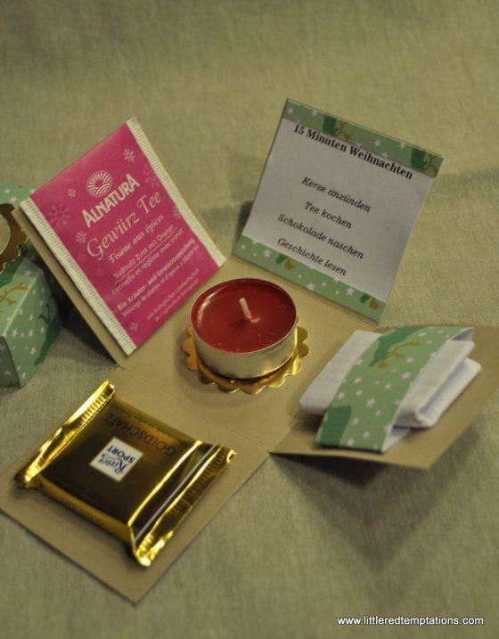 basteln und backen donuts und eine explosive box gift ideas pinterest geschenke basteln. Black Bedroom Furniture Sets. Home Design Ideas
