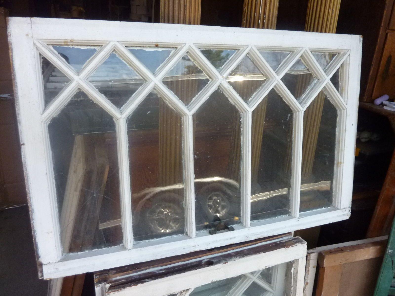 House window frame - C1890 1900 Antique Mission Tudor Diamond Pane Window Frame Sash 33 5 X 20 75