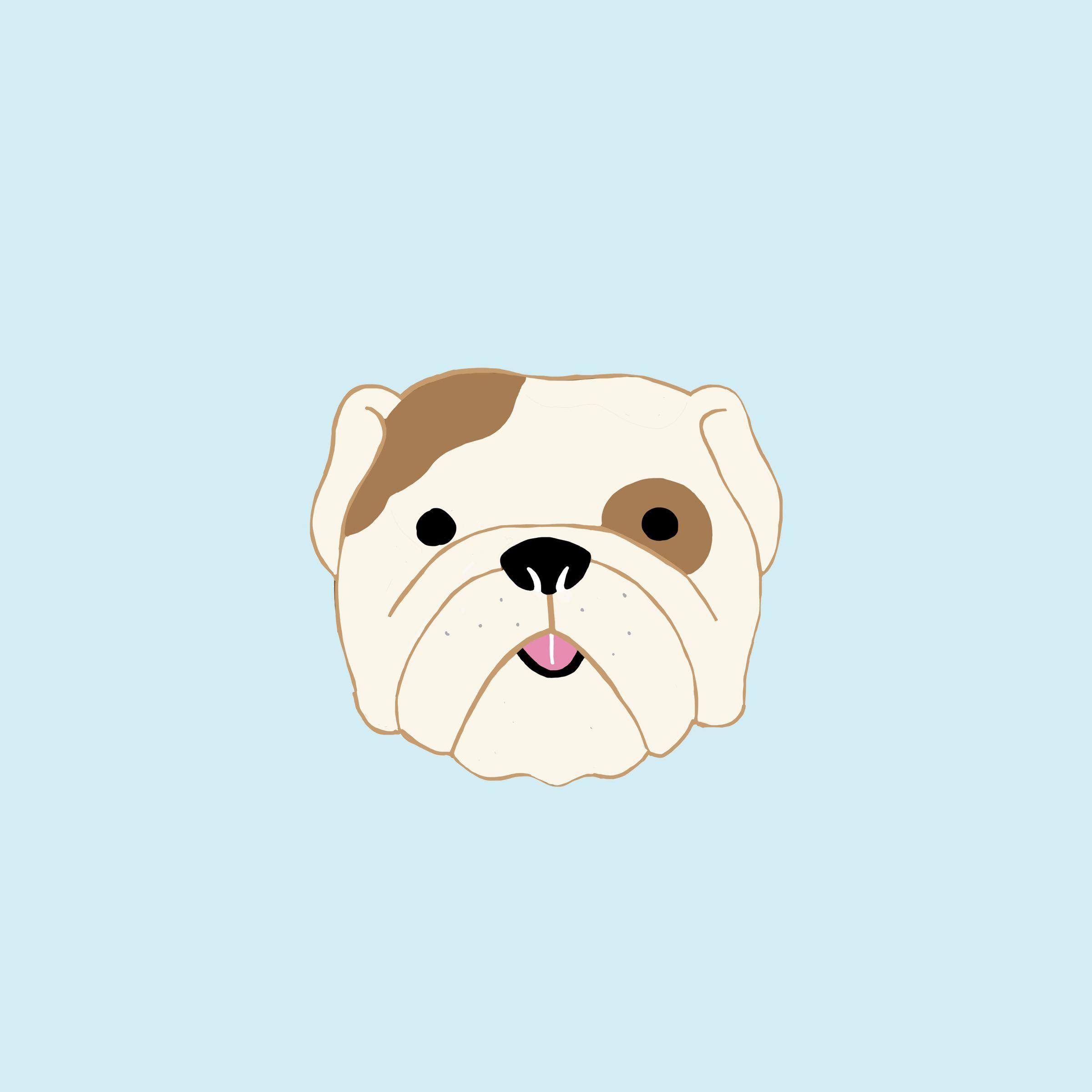 English Bulldog Illustration By Es Super Fun Bulldog Dibujo