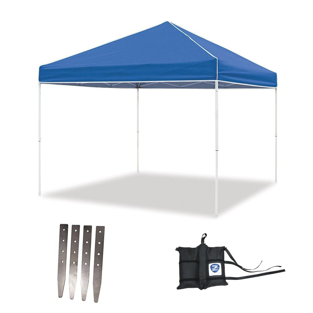 Z Shade 10 X 10 Foot Instant Pop Up Canopy Tent W Steel Stakes Weight Bags Pop Up Canopy Tent Canopy Tent Canopy Tent Outdoor