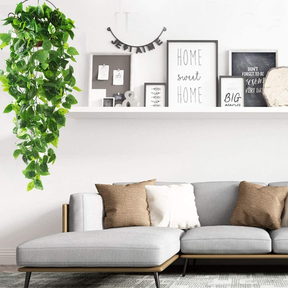 Artificial Hanging Plants For Wall Home Room Garden Wedding Garland Outside Decoration In 2020 House Rooms Outside Decorations Home #wall #accessories #living #room