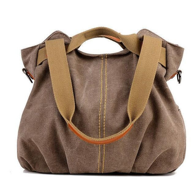 c18ea7eb4bab Fashion canvas messenger bags Women Single Shoulder Bag Leisure Crossbody  bags Lady handbag