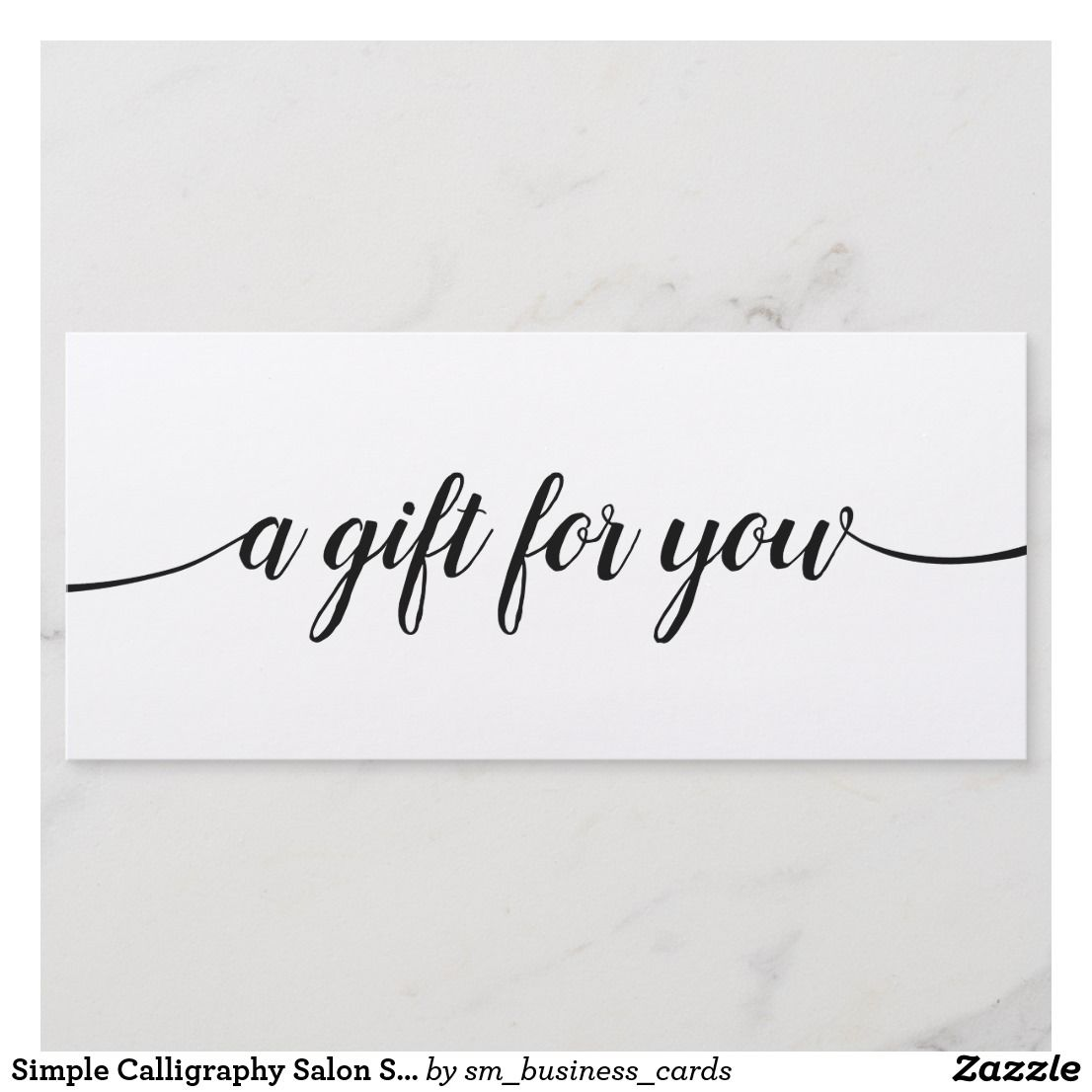 Simple Calligraphy Salon Spa Gift Certificate Fashion And Beauty
